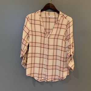Kenneth Cole Reaction Button Blouse Pink Medium